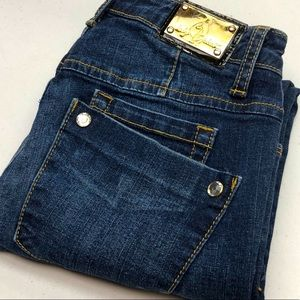 VINTAGE BABY PHAT SKINNY JEANS 26x27 98% COTTON 💎